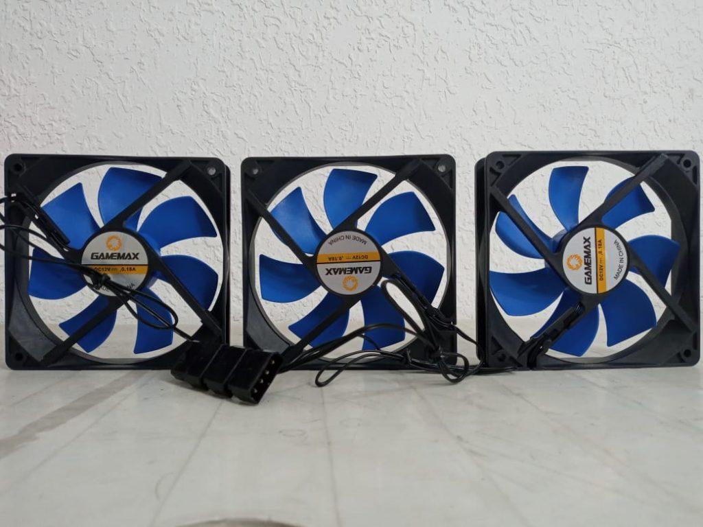Tres ventiladores